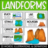 Landforms Posters and Word Wall