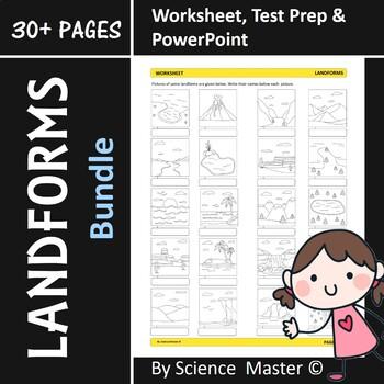 Landforms Worksheet, Test Practice, PowerPoint