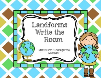 Landforms Write the Room