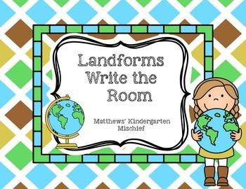 Landforms Write the Room