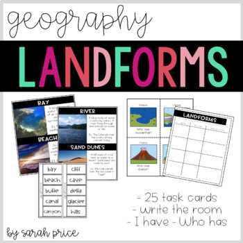 Landforms: Write the Room
