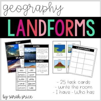 Landforms: Write the Room