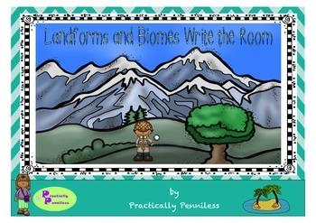 Landforms Write the Room and Vocabulary