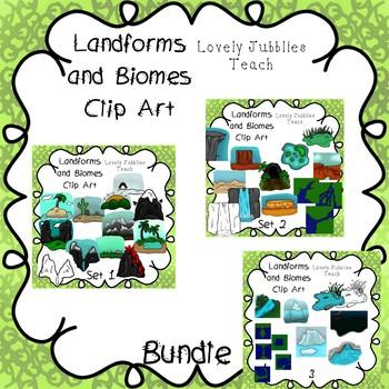 Landforms and Biomes Clip Art Bundle