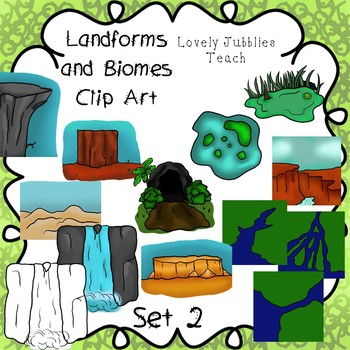 Landforms and Biomes Clip Art Set 2