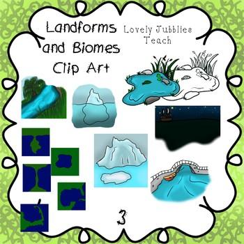 Landforms and Biomes Clip Art Set 3
