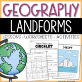 Landforms and Bodies of Water Activities