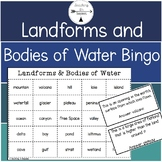 Landforms and Bodies of Water Bingo