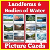 Landforms and Bodies of Water Worksheet