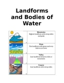 Landforms and Bodies of Water Lap Folder