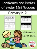 Landforms and Bodies of Water Mini-readers K-2