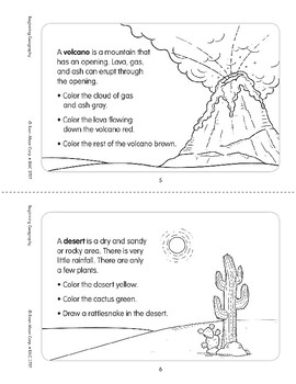 Landforms and Bodies of Water Minibook