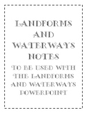 Landforms and Bodies of Water Notes