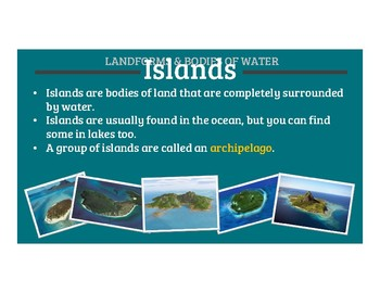 Landforms and Bodies of Water (PDF)