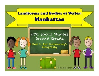 Landforms and Bodies of Water Picture Word Wall: Manhattan
