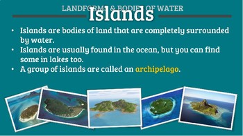 Landforms and Bodies of Water (PowerPoint)