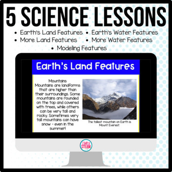 Landforms and Bodies of Water PowerPoint Lessons and Quiz
