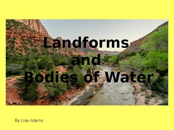 Landforms and Bodies of Water Powerpoint Presentation and Review