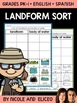 Landforms and Bodies of Water Sorting Activity
