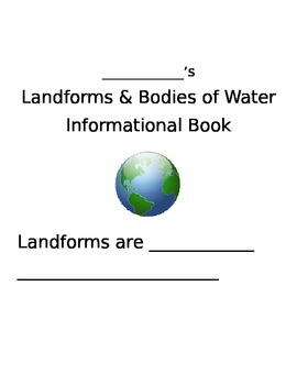 Landforms and Bodies of Water Student Book