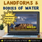 Landforms and Bodies of Water PowerPoint, Posters, Workshe