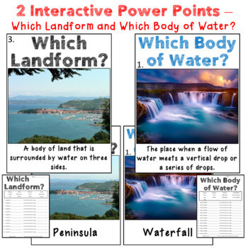 Landforms and Bodies of Water Unit