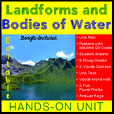 Landforms and Bodies of Water Unit - Distance Learning Included