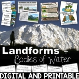 Landforms and Bodies of Water Unit Printables, PowerPoint