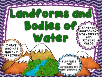 Landforms and Bodies of Water - Interactive pages, posters, and more.