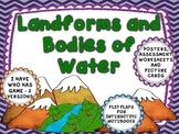 Landforms and Bodies of Water - Interactive pages, posters