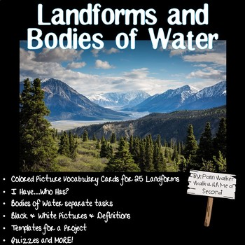 Landforms and Bodies of Water for Primary Grades