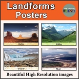 Landforms and Geography Word Wall Posters