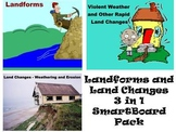 Landforms and Land Changes 3 in 1 3rd Grade SmartBoard Pack