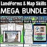 Landforms and Map Skills Print & Digital Activities MEGA BUNDLE