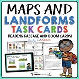 Landforms and Maps Task Cards + Digital BUNDLE