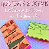 Landforms, Watersheds, and Oceans Interactive Notebook Activities
