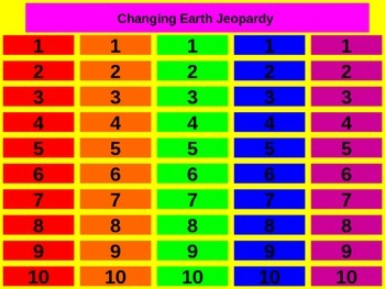 Landforms and Oceans Jeopardy