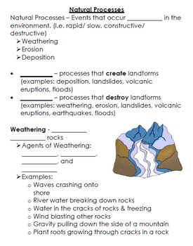 Landforms And Oceans Powerpoint And Student Notes By Carissa S Creations