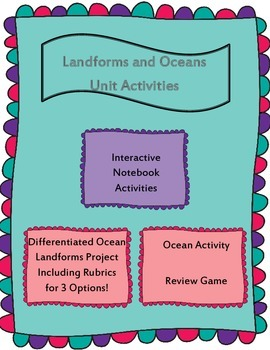Landforms and Oceans Unit Activities