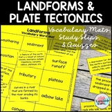 Landforms and Plate Tectonics Vocabulary Mats, Study Slips