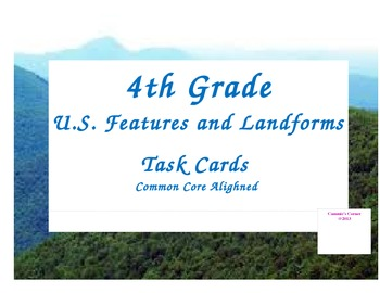 Landforms and US Features 4th Grade Social Studies