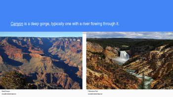 Geography/Social Studies:  Landforms and Water