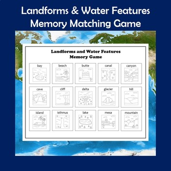 Landforms and Water Features Memory Game