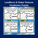 Landforms and Water Features Vocabulary Puzzle