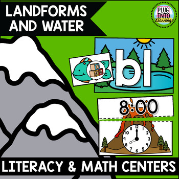 Landforms and Water Literacy and Math Centers