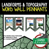 Landforms and Waterways Word Wall Pennants (Earth Science