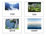 Landforms and bodies of water cards