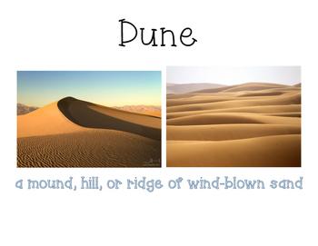 Landforms and their descriptions