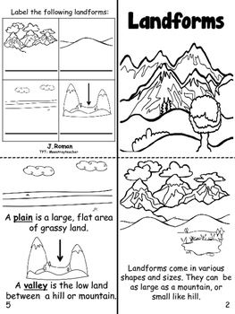 Landforms/ Accidentes Geograficos bilingual book