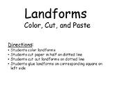 Landforms cut and paste